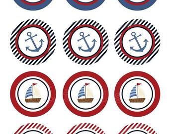 Nautical Toppers/Favor Tags- Custom Printable