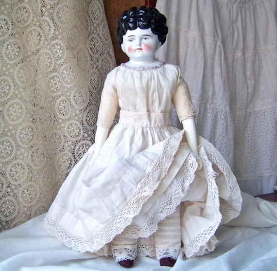 Antique Porcelain Doll Bertha Pet Name Series Late 1800s