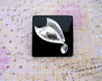 Abstract Silver Design Brooch