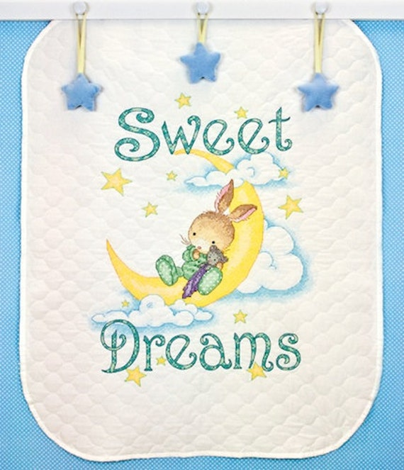 Stamped Cross Stitch Kit Sweet Dreams Baby Quilt Dimensions