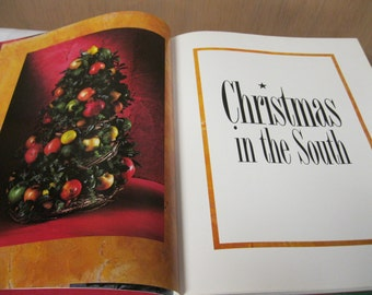 Southern Living Christmas in the South 1994 Hardback Book Like New with Holiday Stories, Ideas, Patterns, Recipes From Western to Modern