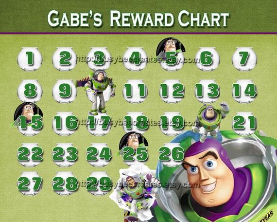Toy Story Sticker Chart : Items similar to personalized disney toy story buzz