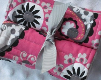 Reversible Car Seat Strap Covers // Stroller Strap Covers // Seat Belt Pad // your choice of Minky Color