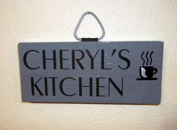 Personalized Hand Painted Kitchen Sign