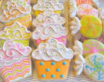 Cupcakes and Candy-sugar cookies