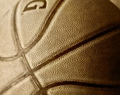 Basketball Sports Fathers Day Sepia Photograph Boys Room - 5 x 7 art print by Dawn Smith
