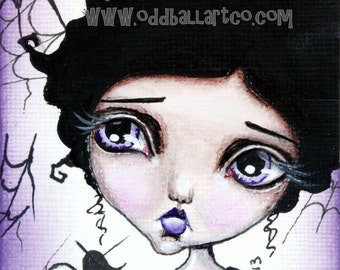 Big Eye Mixed Media Giclee Art Print Signed Reproduction Charlotte by Lizzy Love [IMG#27]
