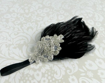 Downton Abbey, 1920s Headpiece, Flapper Headpiece, Great Gatsby Headband, Vintage Inspired Beaded Art Deco, Flapper Headband