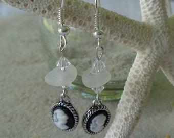 Real Seaglass Dangle Earrings
