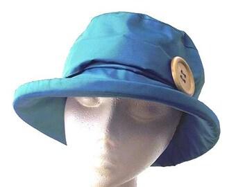 Turquoise PU Rain Hat