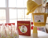 Curious George party/shower drink set