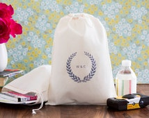 Wedding Welcome Bags -Laurel Wreath Wedding Favors - Choose your color