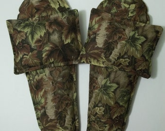 Foot Warmers Flax Seed Sock/Slippers inserts and Toasty Hand Warmers Gift Set Camo