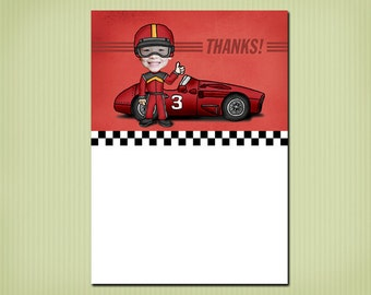 digital race car thank you card