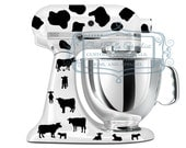 Cow inspired kitchen mixer vinyl decal set  choose from all spots or cows and spots