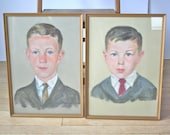 Vintage Pastel Portraits: Two Brothers