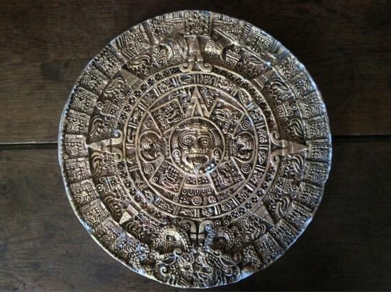 Vintage Mayan Zodiac Calander Wallhanging / English by EnglishShop