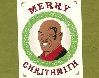 MIKE TYSON CHRISTMAS - Chrithmith - Funny Christmas - Mike Tyson - Mike Tyson Card- Funny Card - Christmas Card - Christmas - Item# X030