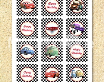 CARS Cupcake toppers, Instant download, Cars birthday printable, CARS birthday, CARS party, Cars birthday invitation, printable invitation