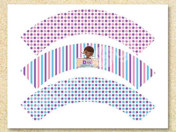 doc mcstuffins cupcake wrappers instant download doc