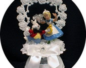 Its Time   Cute Cat & Alice in Wonderland Wedding Cake Topper Funny Groom top