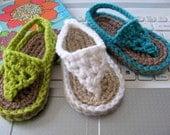 NEW  Pattern Crochet Baby Flip Flop Sandals - Instant Download