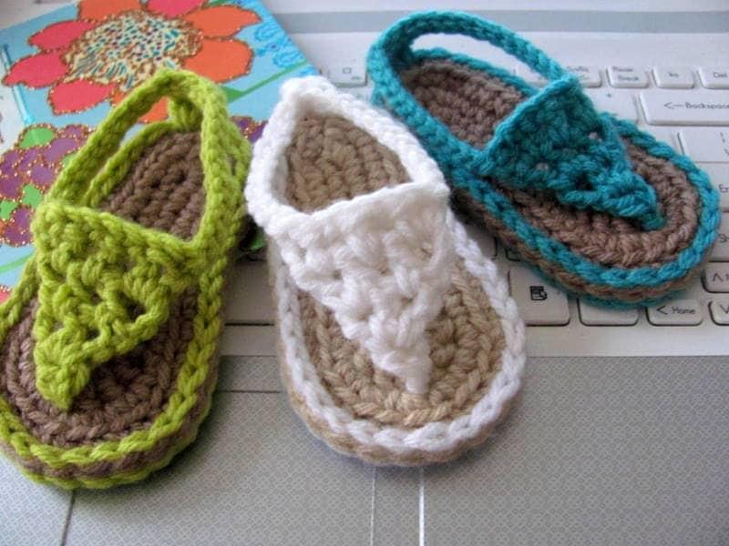 NEW Pattern Crochet Baby Flip Flop Sandals Instant Download