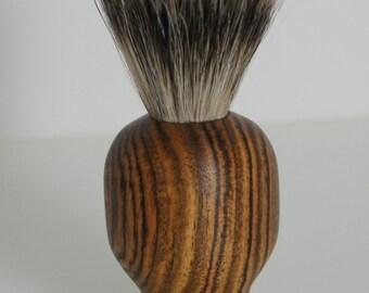 shaving brush, pure badger hair, bocote