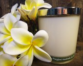 White Frangipani  Handmade Soy Wax Candle -  Flat Rate Shipping Now Available!