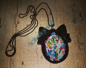 Sailor girl cameo necklace