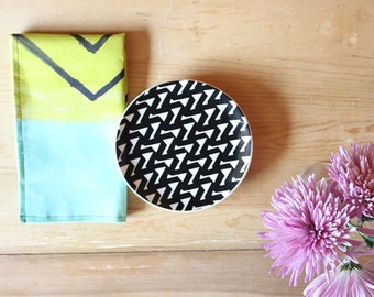 Cloth Napkins Lime & Turquoise
