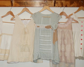 Flower Girl Dress PREVIEW - FEATURED LISTING - Boutique Lace Tea Dyed Dress