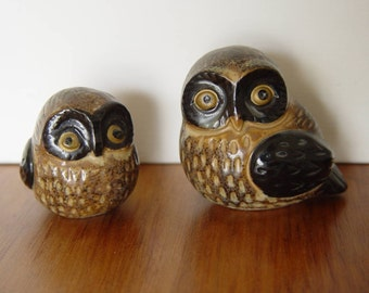Vintage Set of 2 Ceramic OMC Japan OWLS ~ From the 60's or 70's