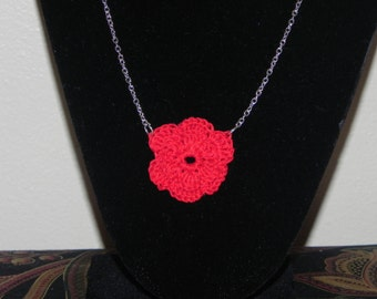 Flower Necklace Crocheted
