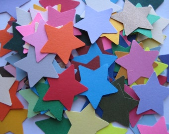 100 Mixed Star punch die cut scrapbooking embellishments E224