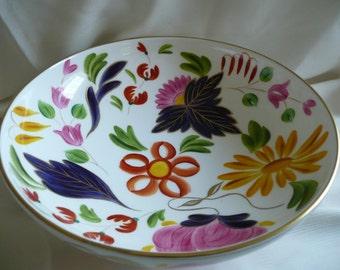 Hand painted bowl, bone china bowl, stylised, fine bone china bowl