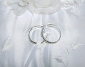 Pair of Faux Rings For Your Ring Bearer Pillow, Choose Silver or Gold Color