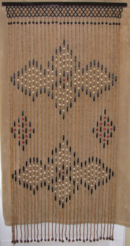 vintage hippie beaded doorway curtain. Black Bedroom Furniture Sets. Home Design Ideas