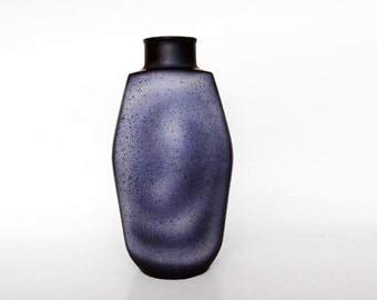 Large West German Blue Toned Lava Vase  - Jopeko 70s