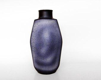 Large West German Blue Toned Lava Vase  - Jopeko 70s