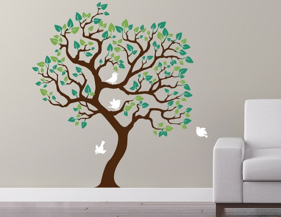 Original Tree Wall Decal removable matte sticker. Unique wall decor by Cherry Walls