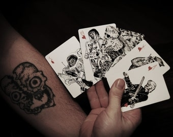 Zombie Deck of playing Cards / Card Game