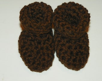 Brown Baby Booties Size Newborn Take me home from the Hostipal Booties