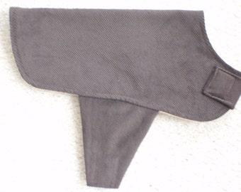 Brown Corduroy Dog Coat