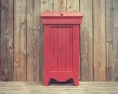 Country Wooden Trash Bin / Recycling Bin - Available with a Distressed Finish