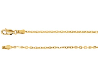 14kt yellow gold cable  chain 2 mm