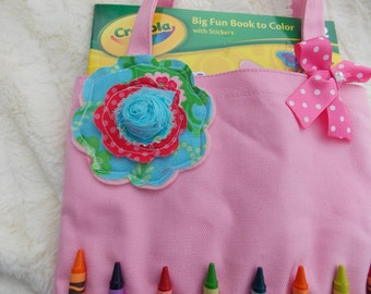Big Sis /Lil Sis tote bag filled with crayons and coloring book  Can personalized Great for Birthdays