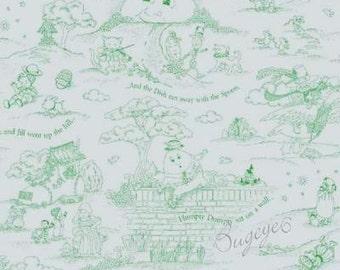 Mary Engelbreit Fabric Mother Goose - TOILE Green - Nursery Rhyme - Fairy Tales