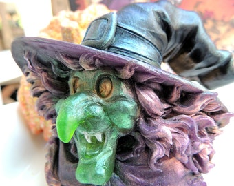 WICKED WITCH SOAP Halloween Soap, Scented in Caramel Apple, Witch Soap, Novelty Soap, Party Favor, Vegetable Based, Handmade