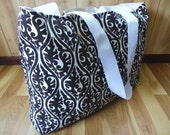Extra Large Beach tote/Gym Bag/Carrying Tote-Kimono Fabric